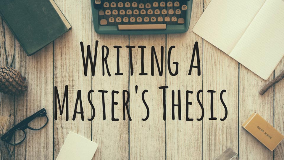6 Mistakes I made whilst writing my Master`s Thesis